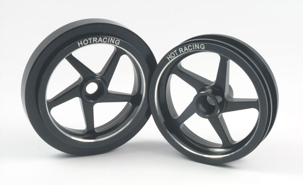 Hot Racing Galaxy 5W Wheel set (black)