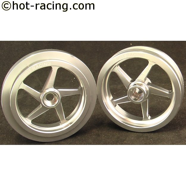 Hot Racing Galaxy 5W wheel set (silver)