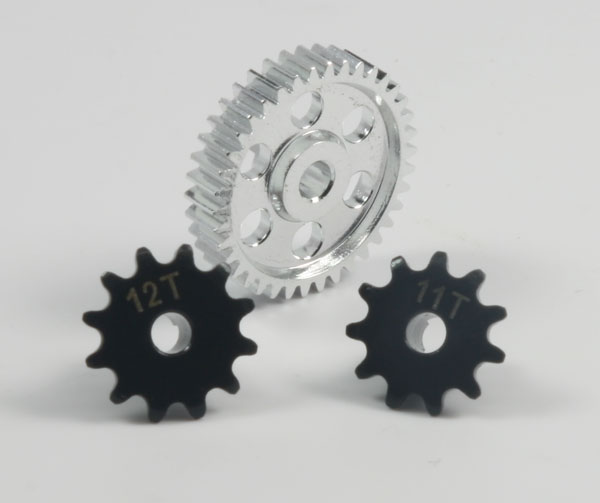 Hot Racing Alloy Main Gear/Steel sprocket set