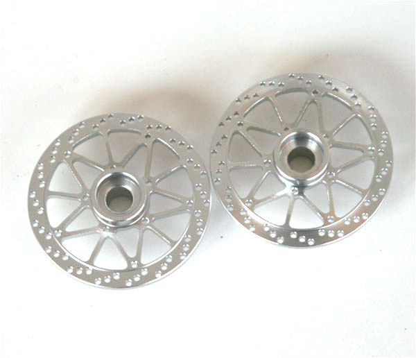 Hot Racing Twin Star front brake disk (silver)