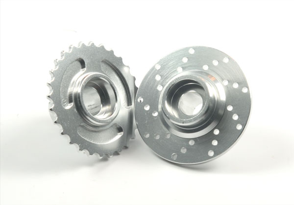 Hot Racing Rear brake disk & Main Sprocket (silver)