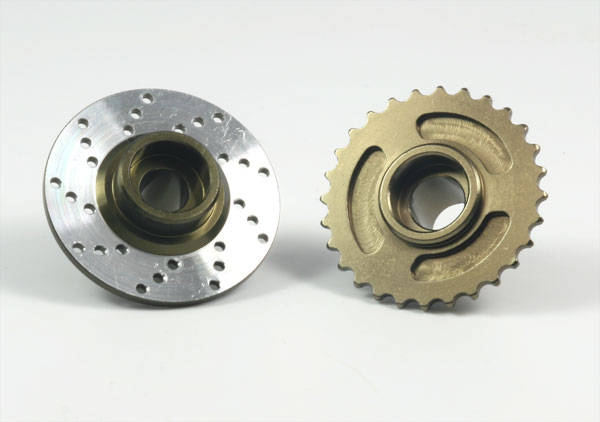 Hot Racing Rear brake disk & Main Sprocket (titanium)