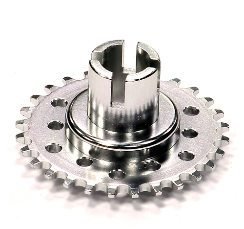 Integy Billet Machined Metal Driver Gear (silver) - HOR