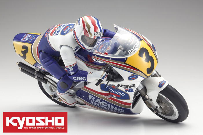 Kyosho Hanging-On Rider 1/8 EP Honda NSR500 1991 Kit
