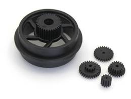 Drive Gear Set (Black) - Moto Racer
