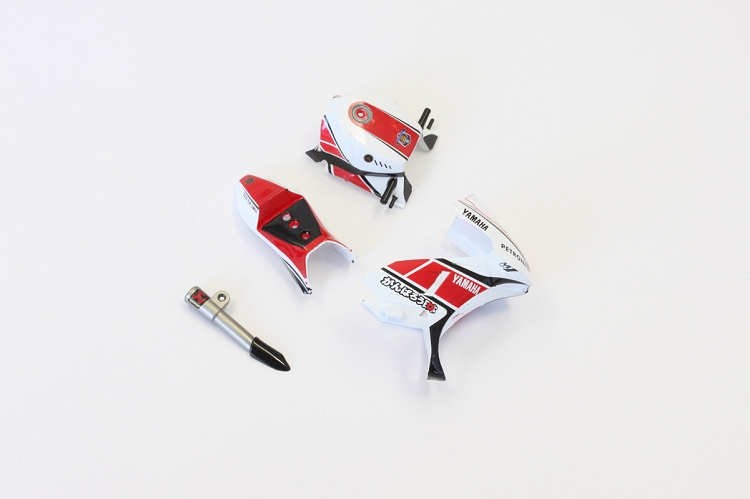 Body Parts Set (Yamaha/Red) - Moto Racer