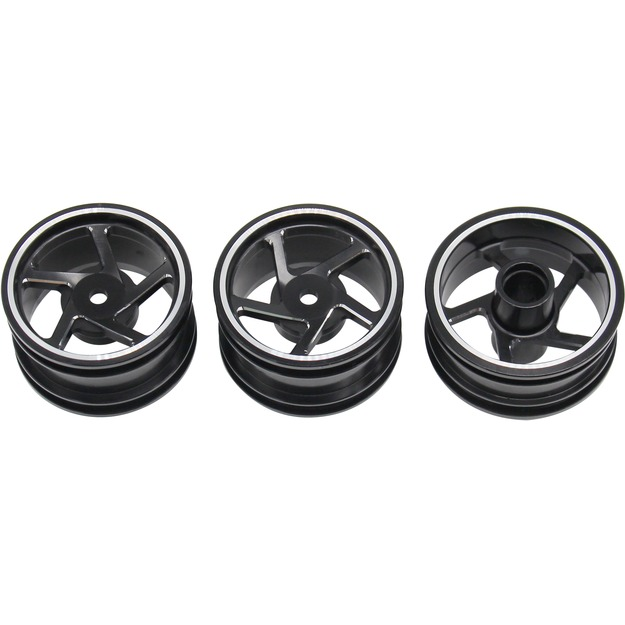 Hot Racing Aluminum 5 spoke wheel set T03-01