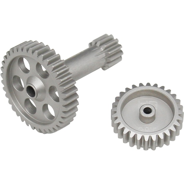 Hot Racing Aluminum High Speed Pinion & Spur Gear Shaft T3-01