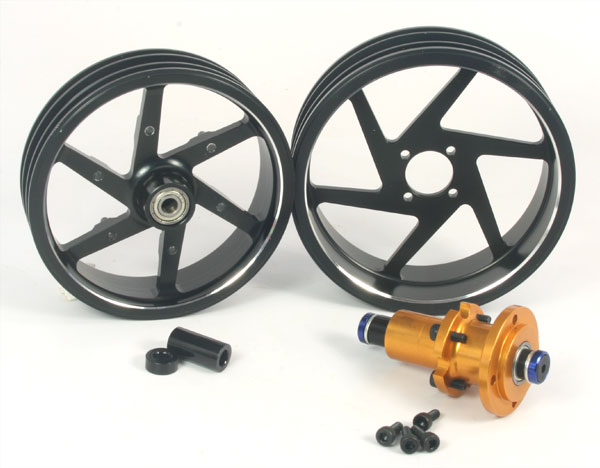 ZH Racing Alloy Wheel Set for DXR500/M5 Race (black)