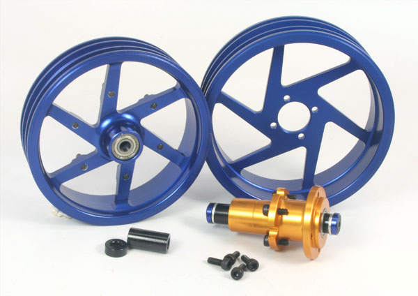 ZH Racing Alloy Wheel Set for DXR500/M5 Race (blue)