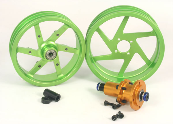 ZH Racing Alloy Wheel Set for DXR500/M5 Race (green)
