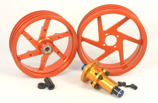 ZH Racing Alloy Wheel Set for DXR500/M5 Race (orange)