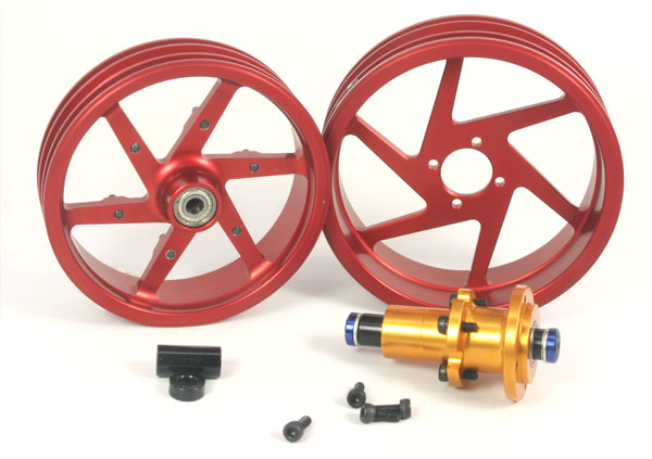 ZH Racing Alloy Wheel Set for DXR500/M5 Race (red)