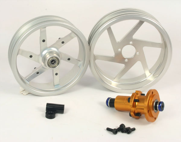 ZH Racing Alloy Wheel Set for DXR500/M5 Race (silver)