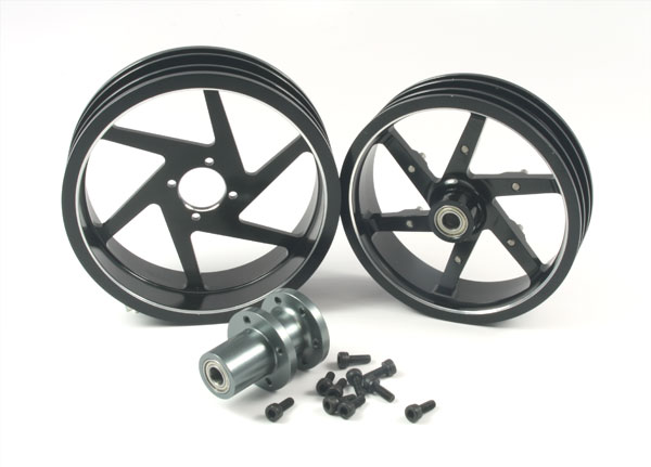 ZH Racing Alloy Wheel Set for the SB-5 (black)