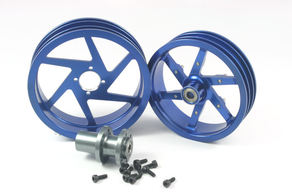 ZH Racing Alloy Wheel Set for the SB-5 (blue)
