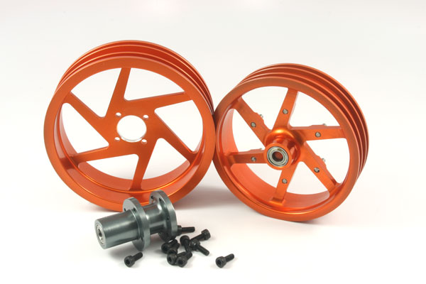 ZH Racing Alloy Wheel Set for the SB-5 (orange)