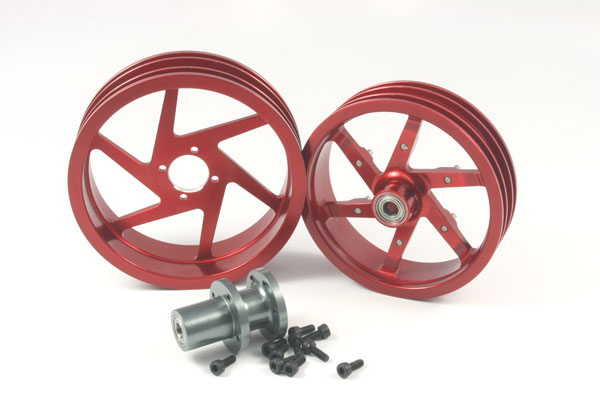 ZH Racing Alloy Wheel Set for the SB-5 (red)