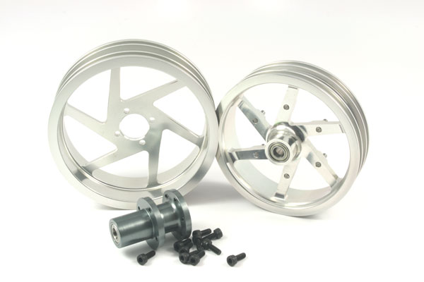 ZH Racing Alloy Wheel Set for the SB-5 (silver)