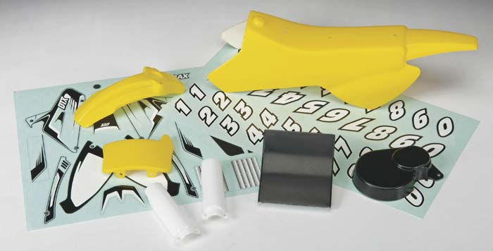 Body & Decal Set Yellow DX450
