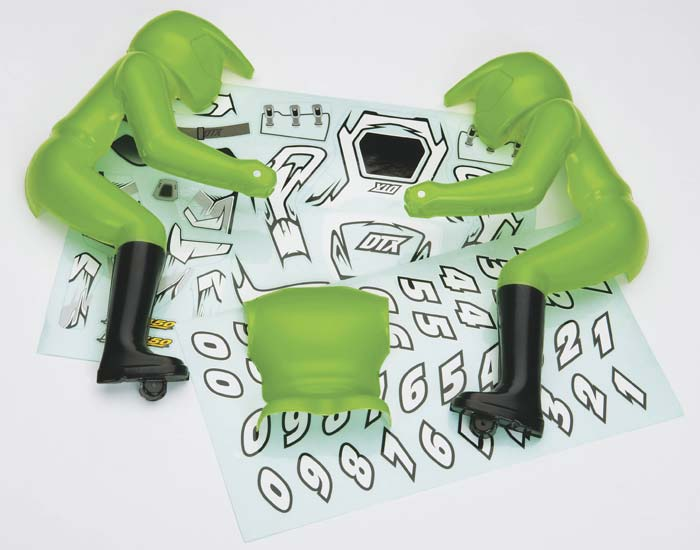 Rider & Decal Set Green DX450