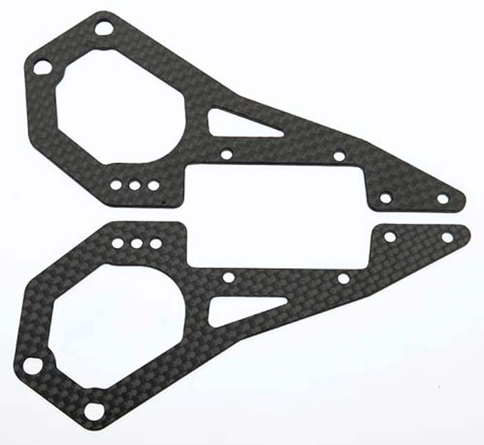 Carbon Fiber Frame Rear Left/Right DX450