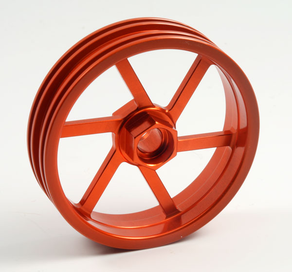 ZH Racing Z-201B Wheel 6 Spoke Orange Front
