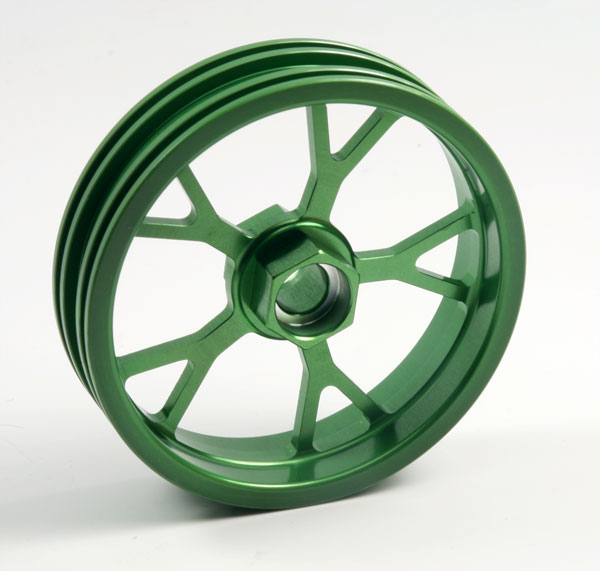 ZH Racing Z-201B Wheel Y Spoke Green Front