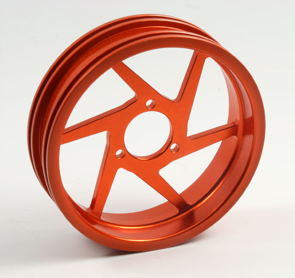 ZH Racing Z-201B Wheel 6 Spoke Orange Rear