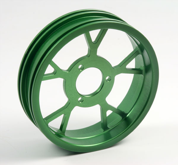 ZH Racing Z-201B Wheel Y Spoke Green Rear