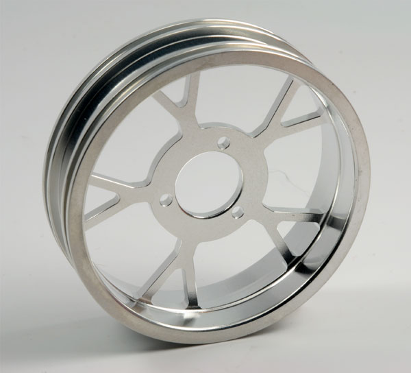 ZH Racing Z-201B Wheel Y Spoke Silver Rear